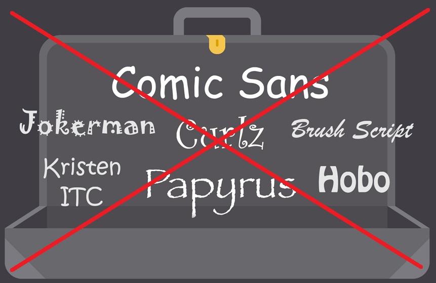 плохие шрифты